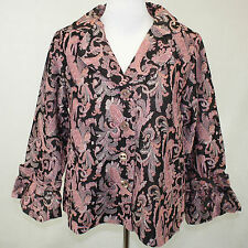 NEW NWOT Avenue Plus Size Spring Embroidered Paisley Blazer 14/16 Mother's Day!