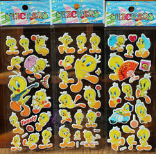 100pcs Fun Puffy Cartoon 3D Tweety Stickers Kids Crafts Gift Party