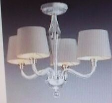 NEXT Knightsbridge 4 Light Glass Chandelier With Shades Ceiling Lighting NEW