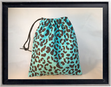 Gymnastics Leotard Grip Bags / Turquoise Cheetah Gymnasts Birthday Goody Bag