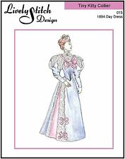 """1894 Day Dress / pattern for 10"""" Tiny Kitty Collier doll by Tonner"""
