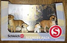 Schleich Scenery Pack Golden Retriever Family Set of 4 Dog Figures New