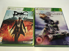 2 Games for Microsoft Xbox 360 - DMC Devil May Cry & Vanquish with Sleeve