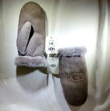 UGG AUSTRALIA Brown Leather Mittens NEW WITH TAGS NWT