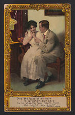 c1907 AMP Thomas Moore Quote lovers Romantic greetings postcard
