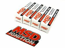FREE EMBLEM - MSD IRIDIUM SPARK PLUGS FOR 92-00 HONDA CIVIC D15 D16 EG EK EJ