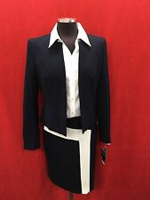 NINE WEST SKIRT SUIT/BLOUSE NOT INCLUDED/SIZE 14/NAVY/RETAIL$200/LINED/NEW W TAG