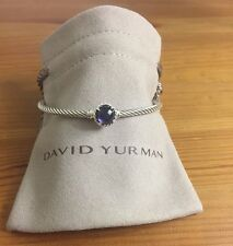 David Yurman chatelaine Bracelet With Black Orchid 925 Sterling Silver 3mm