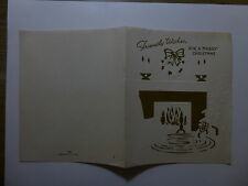 Old Christmas Greeting Card - Friendly Wishes - Unused