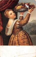 Berlin Lavinia Tizian Titian oil portrait paint Girl with a Basket of Fruits