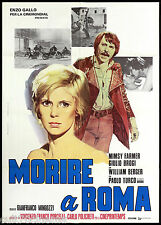 MORIRE A ROMA MANIFESTO CINEMA FILM MINGOZZI MIMSY FARMER 1972 MOVIE POSTER 2F