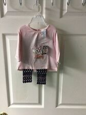 NWT GIRLS  Piper & Posie  2pc Outfit Pink Shirt and Leggings 6 Months