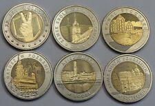 6 x 5 zl  Bimetall Münzen aus  Polen ab 2014 bis 2016