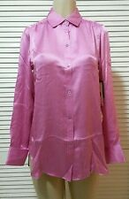 NEW! Rachel Roy Roll Tab Button Down Silk Blouse Size 2 Retail $325.00