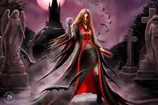 3D Picture Gothic Art Anne Stokes Blood Moon Size 39 x 29 cm approx New