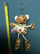 "TIGER STUFFED ANIMAL KEY CHAIN 5+ Boys & Girls  by ""XU YANG TOY""  NEW  9"""
