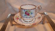 Royal Albert  Cup & Saucer Made In England Petit Point Made In England