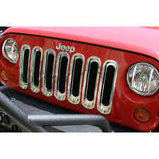 Jeep Wrangler JK 2007-2016 Chrome Grill Grille Inserts Kit 11306.20 Rugged Ridge