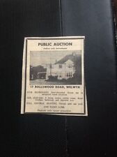 L2-9 Ephemera 1973 Advert House Sale 17 Rollswood Road Welwyn