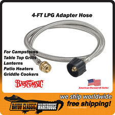 LPG Stainless Adapter Hose for Connecting LP Cylinder to Camping Accessories
