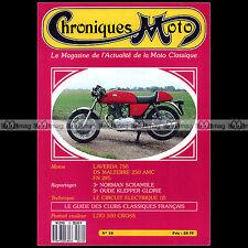 CHRONIQUES MOTO N°10-b LAVERDA SF 750 DS MALTERRE M13 FN 285 LITO 500 TRIUMPH