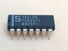 1 pc. 74F13N  74F13  Signetics  NAND-Gatter 2-fach 4 Eingänge  DIP14