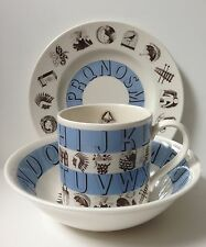 Wedgwood Eric Ravilious Blue Alphabet 3-Piece Set for Martha Stewart by Mail