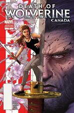 DEATH OF WOLVERINE 3 RARE CANADA CANADIAN McNIVEN VARIANT NM