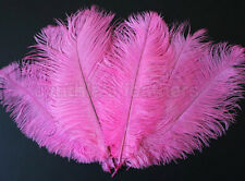 "16 Grade B 10-12"" Hot Pink Ostrich Drab Plume Feathers Wedding Decor, Millinery"