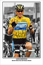 * LANCE ARMSTRONG * AUTOGRAPH PHOTO OF THE TOUR DE FRANCE 7 TIMES WINNER *