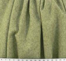 Drapery Upholstery Fabric Rustic Burlap Texture Shades of Natural & Willow Green