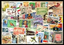 World wide 50 Different Stamp From 50 Different Countries & States Large Only