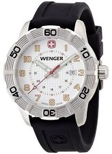 WENGER Roadster Watch 01.0851.104 White Dial, Black Band - New In Box