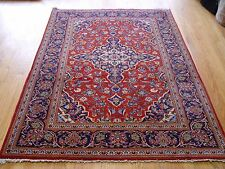 """4'7""""x6'7"""" Stunning Semi-Antique Genuine Persian Kashan Hand-Knotted Oriental Rug"""