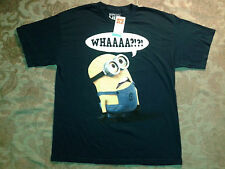 """DESPICABLE ME 2 """"WHAAAA?!?!"""" MINION T-SHIRT FUNNY, SIZE XL BLUE"""