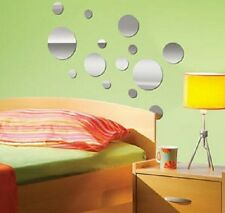 POLKA DOTS CIRCLES MIRRORED wall stickers 14 decals light weight mirrors decor