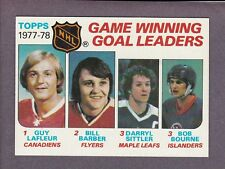 1978-79 Topps Hockey Game Winning Goal Ldrs #69 Guy Lafleur Darryl Sittler NM/MT