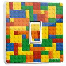 Lego Block Brick Colourful Design Single Light Switch Vinyl Sticker Art Decor