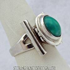Vintage MEXICO MPC #3 POSION TURQUOISE Sterling Silver TURQUOISE RING size 9