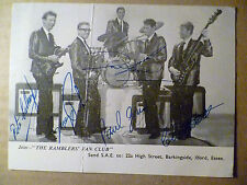Vintage POSTCARD of the RAMBLERS FAN Club with Signature (rare)