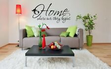 """HOME IS WHERE OUR STORY BEGINS Words Wall Decal Lettering Sticky Quote Decor 24"""""""