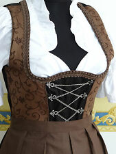 NEW!German,Germany,Trachten,Oktoberfest,Dirndl Dress,3-pc.Sz.4.Brown,Black