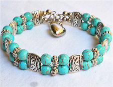 Fancy Jewelery Tibet silver blue Turquoise fashion Bracelet