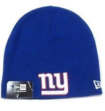 New York Giants NFL NEW ERA Blue No Cuff Knit Hat Cap Snow Winter Beanie NY Logo
