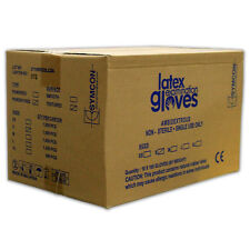 Symcon brand Latex Gloves - Small size (1 case, 10 boxes with 100 gloves each)