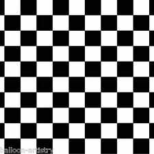 Racing Cars Party Scene Setter Room Roll Backdrop Black & White CHEQUERED