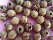 BURLY WOOD BEADS,12 MM, 90 BEADS COLOR AS PICTURED HOLE ABOUT 3 MM