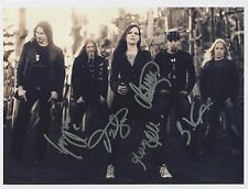Nightwish (Band) SIGNED Photo 1st Generation PRINT Ltd, No'd + Certificate / 1