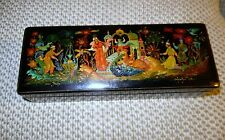 1982 Russian Palekh Lacquer Box Hand Painted SIGNED & NUMBERED + COA