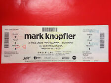 MARK KNOPFLER - UNUSED Ticket 02.05.2008 WARSZAWA TORWAR POLAND